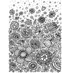pattern doodle coloring vector image
