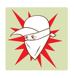 Protester s face symbol vector image vector image