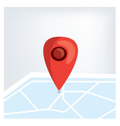 red gps marker on the map vector image vector image
