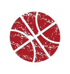 Red grunge basketball logo vector image
