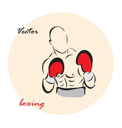 showing a Boxing vector image vector image