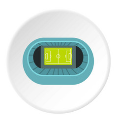 Stadium top view icon circle vector
