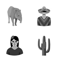 tapir mexican animal a mexican in national vector image vector image