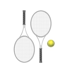 Tennis Rackets with Ball vector image