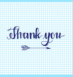 Thank you hand written words calligraphy vector