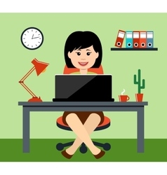 The woman at office vector image