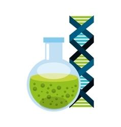 Tube test laboratory experiment icon vector
