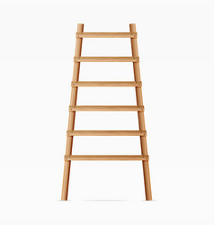 wooden ladder isolated on white background vector image