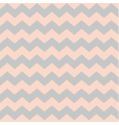 Zig zag chevron pastel pink and grey tile pattern vector