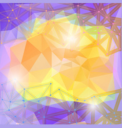 Polygonal square cyber vector