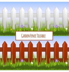 Garden fence pattern vector image