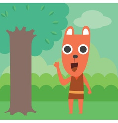 Raccoon in forest vector