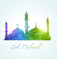 Colorful muslim mosque vector