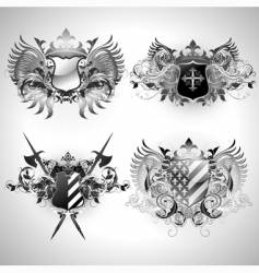 Ornamental shields vector