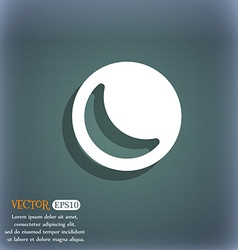 Moon icon symbol on the blue-green abstract vector