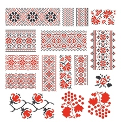 Ukrainian ethnic national seamless patterns vector