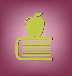 Book with apple icon education sign vector