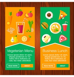 Food banners vector
