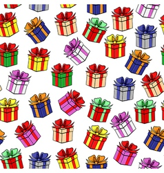 Gift color patterns vector