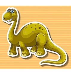 Brown dinosaur with happy face vector