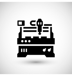 Cnc milling machine icon vector