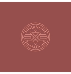 American diner style hand made trademark vector