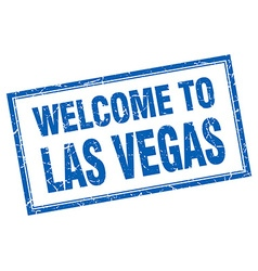 Las Vegas blue square grunge welcome isolated vector image