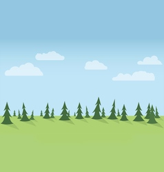 Forest seamless horizontal vector