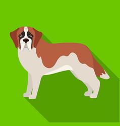 Beagle single icon in flat stylebeagle vector