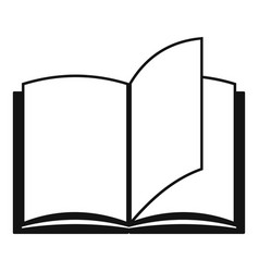 book page icon simple black style vector image