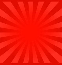 Bright red rays background vector