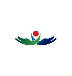 care logo vector image vector image