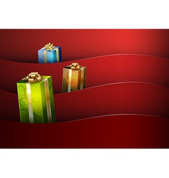 christmas background red stripe wave vector image vector image