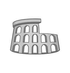 Colosseum icon black monochrome style vector