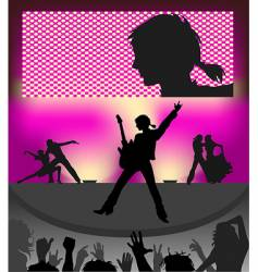 concert vector image vector image