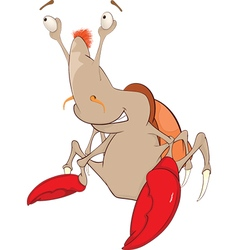 Cute Crab Cartoon Character vector image vector image