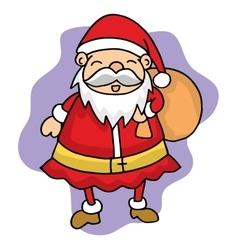 Cute santa christmas character stock vector