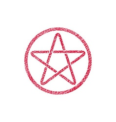 Five point star icon with hand drawn lines texture vector