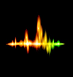 Fluorescent sound wave design vector