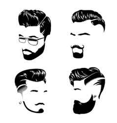 Man Hair Style Collection vector image vector image