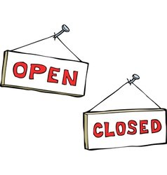 Open and closed vector image vector image