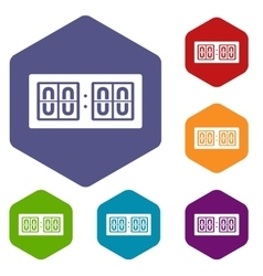 Scoreboard icons set vector image