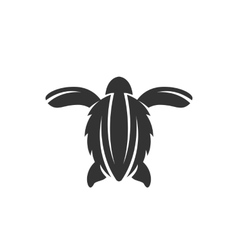 Sea turtle icon on a white background vector