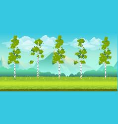 seamless cartoon nature landscape unending vector image vector image