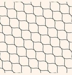 seamless pattern thin diagonal wavy lines mesh vector image