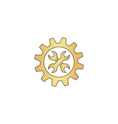 Service computer symbol vector image