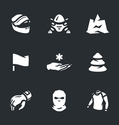 Set of snowmobile icons vector