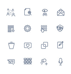simple icons for app programs and sites set with vector image vector image