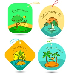 traveling tags vector image
