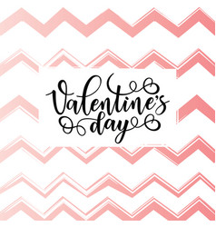 Valentines day lettering poster vector
